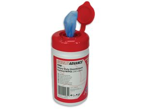 Blue Heavy Duty Disinfectant Probe Wipes PBW